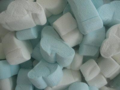 Wolken spek blauw wit 1 kilo
