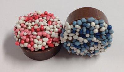 Baby bonbons blauw en roze 48 stuks