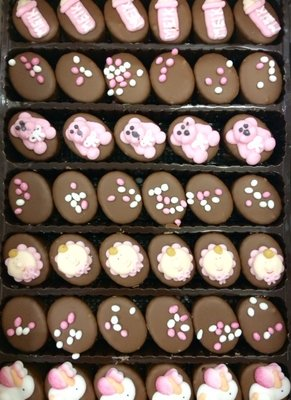 Geboorte bonbons roze 44 stuks