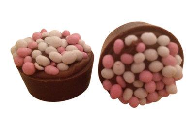 Baby bonbons roze 48 stuks