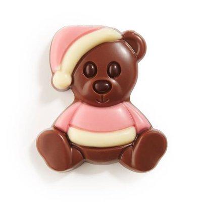 Chocolade beertjes roze 1,5 kilo