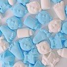 geboorte schuimpjes blauw