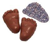 Chocolade babyvoetjes blauwe musket klein
