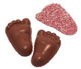 Chocolade babyvoetjes roze musket