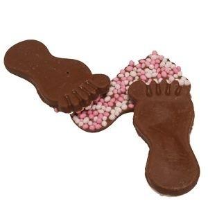 Chocolade baby voetje roze 500 gram