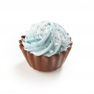 Cupcake geboorte kokos blauw 30 stuks