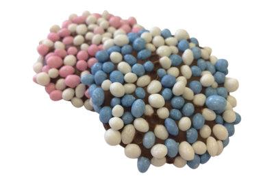 Grote geboorte flikken blauw en roze 2 kilo