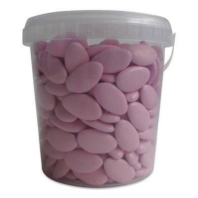 Chocolade dragees roze