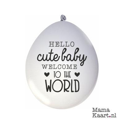 Ballonnen 10 stuks Hello Cute Baby Welcome To The World