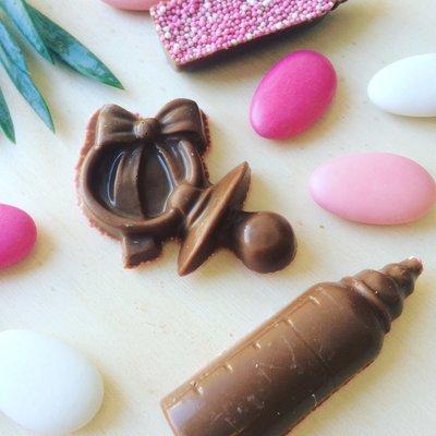 Chocolade speen en flesje roze musket 500 gram