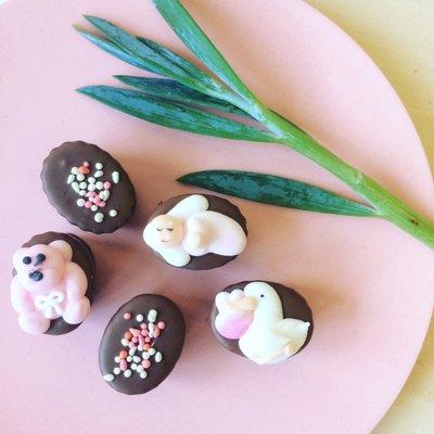 Geboorte bonbons roze 500 gram