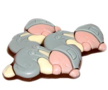 Chocolade baby's blauw 250 gram