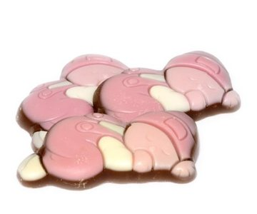 Chocolade baby's roze 250 gram