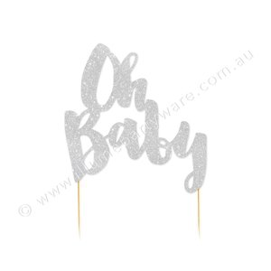 Illume cake topper oh baby zilver