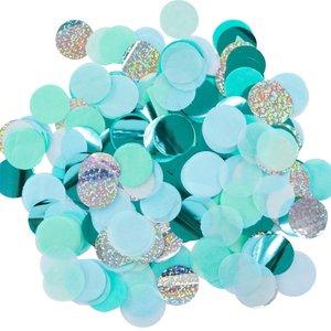 Illume confetti blauw, mint en zilver