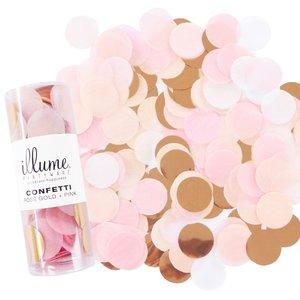 Illume confetti roze, goud, wit