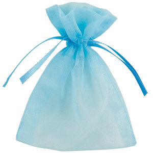 Organza uitdeelzakjes blauw