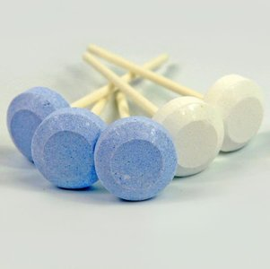 Dextrose Lolly blauw-wit