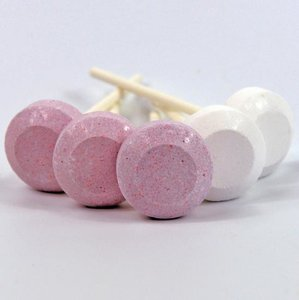 Dextrose Lolly roze-wit