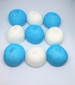 spekbollen blauw/wit