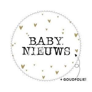 Stickers baby nieuws goud