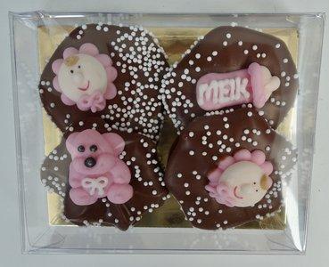 rozet chocolade babymeisje