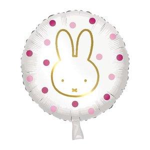 folieballon nijntje roze