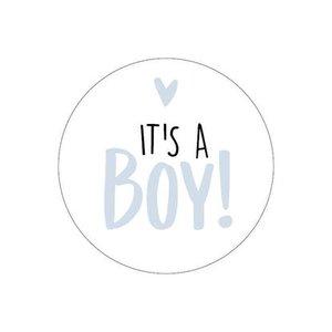 sticker its a boy wit