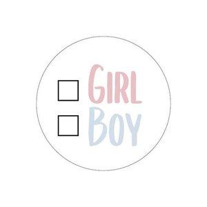 sticker girl or boy keuze