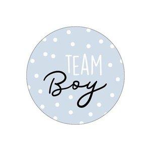 stickers team boy blauw