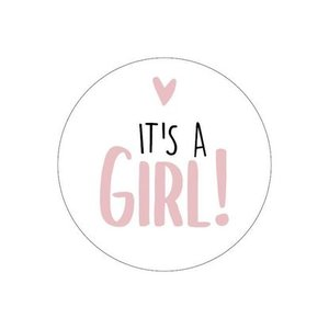 sticker its a girl wit-oudroze