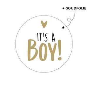 stickers it's a boy goudkleur