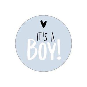 stickers its a boy blauw