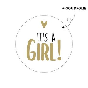 stickers its a girl goud