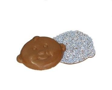 Chocolade babysnoetjes geboorte chocolade blauw