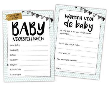babyshower kaartjes