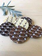 Chocoladeflikken mix puur, melk en wit